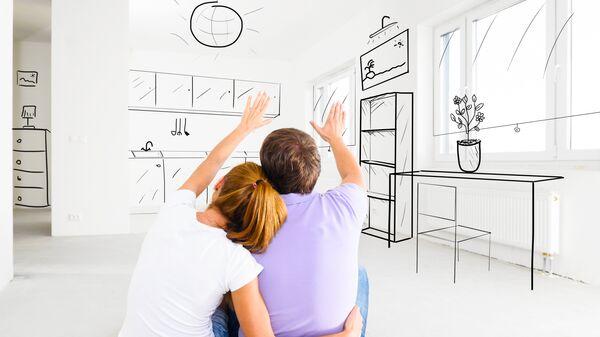 Семья в новой квартире