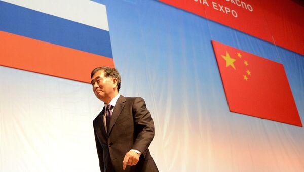 Заместитель премьера Госсовета Китайской Народной Республики Ван Ян на церемонии открытия первого российско-китайского ЭКСПО