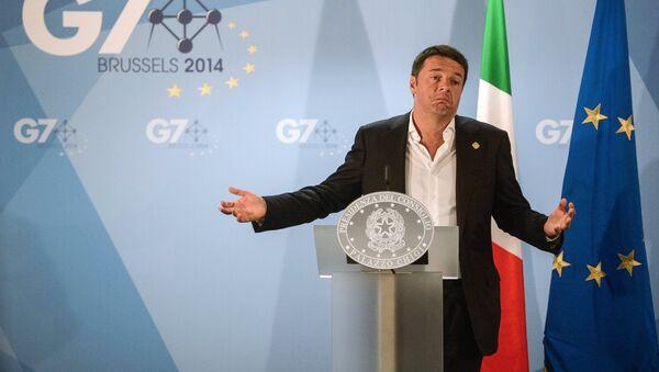 Премьер-министр Италии Маттео Ренци. Архивное фото