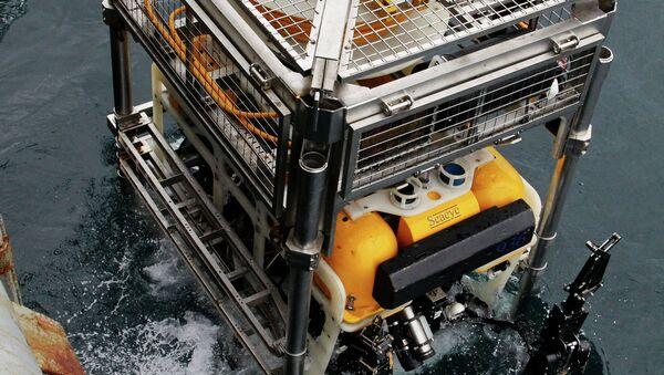Спуск телеуправляемого необитаемого подводного аппарата Пантера Плюс. Архивное фото