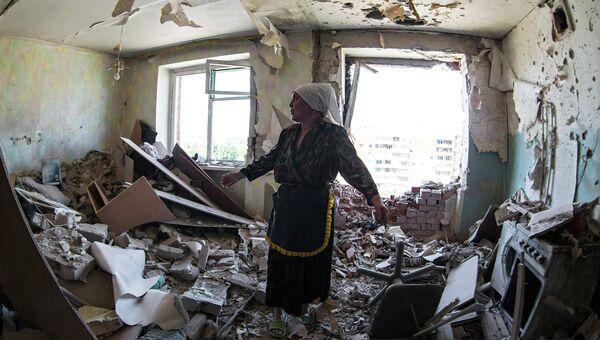 Квартира в Краматорске подвергшаяся обстрелу