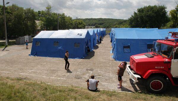 Лагерь МЧС для беженцев в Симферополе