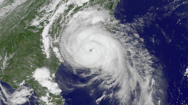Спутниковое изображение урагана. Архивное фото.
