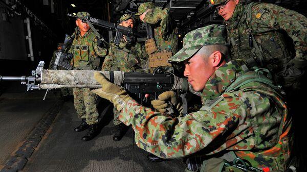 Тренировка японских военных. Архивное фото