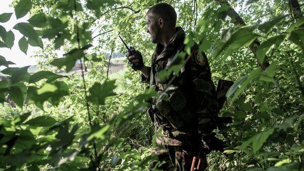 Боец батальона народного ополчения Восток, архивное фото