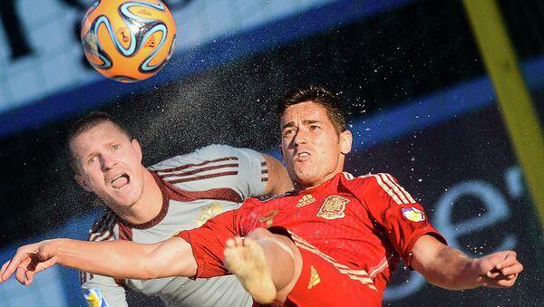 Пляжный футбол. Этап Евролиги. Матч Россия - Испания. Архивное фото