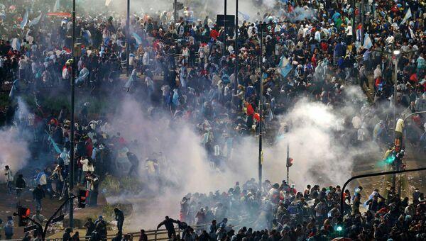 Беспорядки в Буэнос-Айресе после проигрыша сборной Аргентины в финале ЧМ