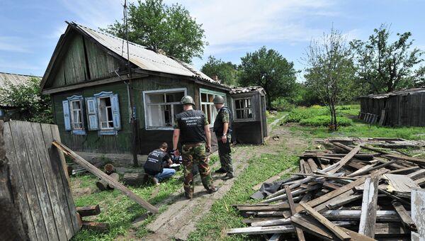 Донецк Ростовской области со стороны Украины был обстрелян фугасными снарядами. Архивное фото