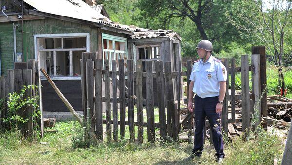 Город Донецк Ростовской области со стороны Украины был обстрелян фугасными снарядами. Архивное фото