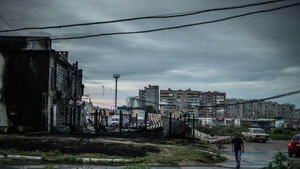Луганск после артиллерийского обстрела