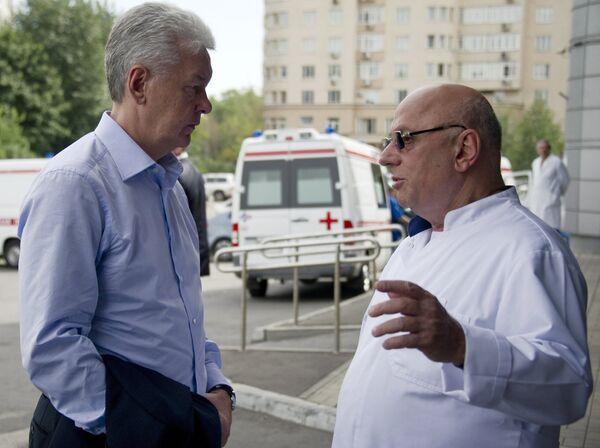 Сергей Собянин посетил НИИ им. Склифосовского