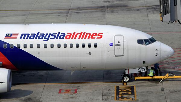 Самолет компании Malaysia Airlines в аэропорту. Архивное фото