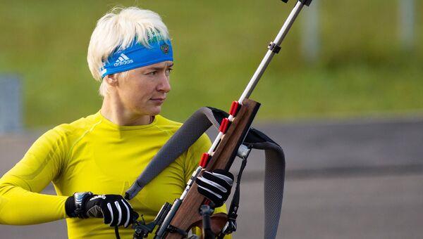 Российская биатлонистка Екатерина Юрьева. Архивное фото