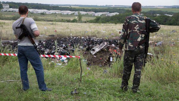 На месте крушения малайзийского Boeing на Украине