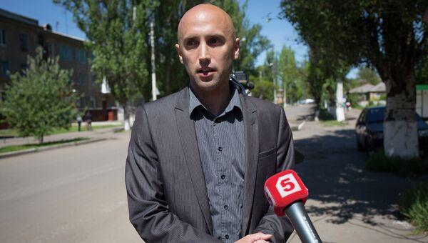 Журналист из Великобритании Грэм Филлипс во время работы на Украине. Архивное фото