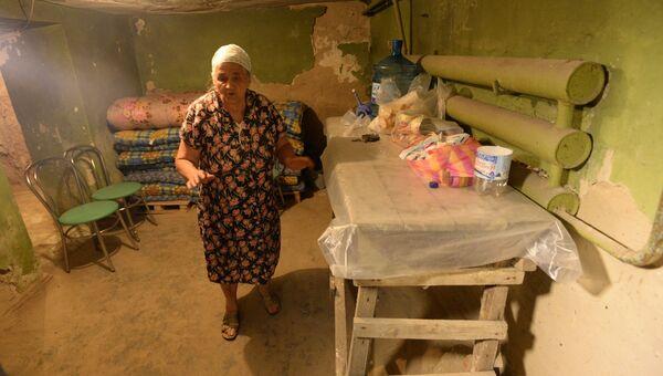 Бомбоубежище в подвале жилого дома в Донецке