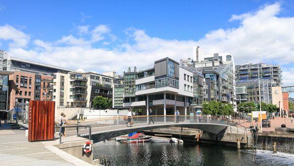 Современный центр города Осло, архивное фото