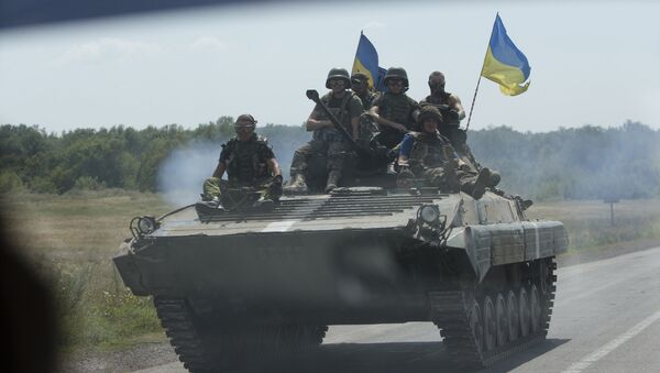 Украинские военные в Донецкой области, архивное фото