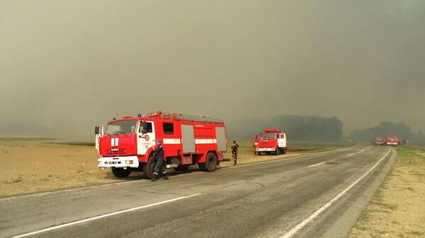 Пожарные машины на Украине. Архивное фото