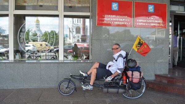 Велотурист Рон Макгерити. Архивное фото