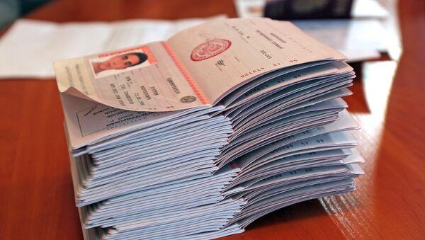 Российские паспорта. Архивное фото