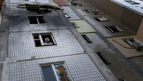 Последствия обстрела Украинской армией города Донецк. Архивное фото