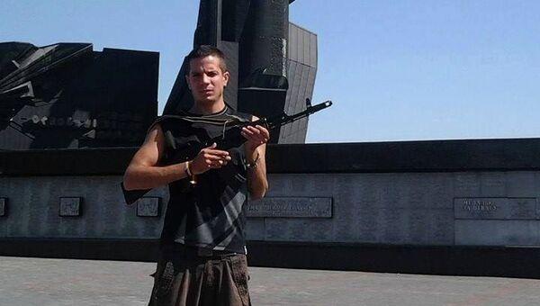 Волонтер из Испании в Донецке. Архивное фото