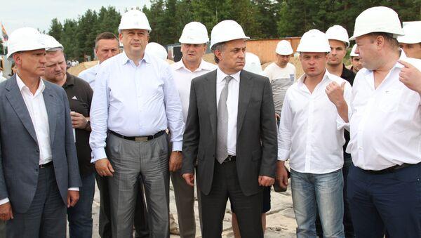 Министр спорта Виталий Мутко и губернатор Ленинградской области Александр Дрозденко