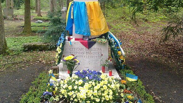 Могила Степана Бандеры в Мюнхене. Архивное фото