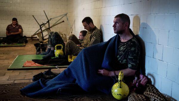 Пленные военнослужащие украинской армии. Архивное фото