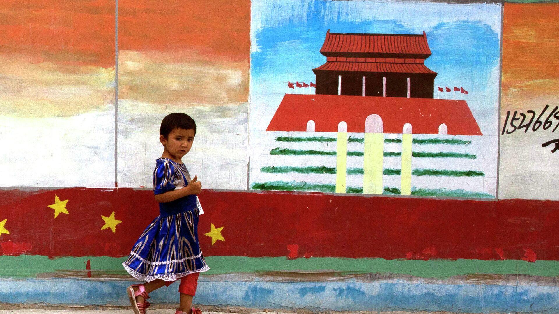 Девочка в китайской провинции Синьцзян - РИА Новости, 1920, 12.01.2021