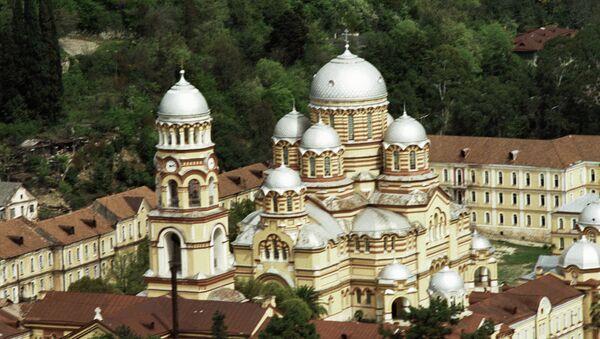 Православный монастырь в поселке Новый Афон