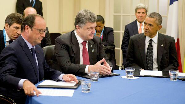 Петр Порошенко в рамках саммита НАТО проводит встречу с лидерами стран G7