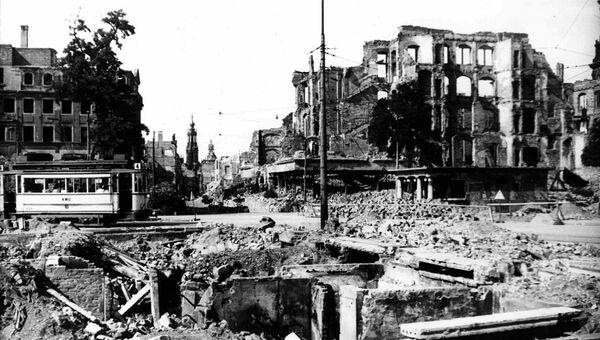 Город Дрезден после авианалета. 13 февраля 1945
