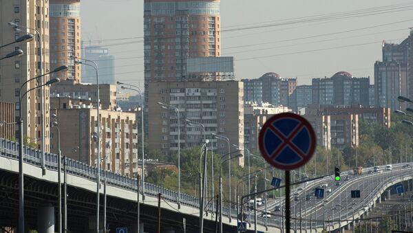 Открытие самой длинной эстакады в Москве. Архивное фото