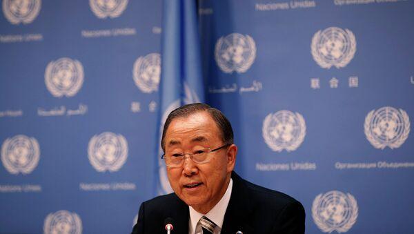 Пан Ги Мун перед открытием 69 Генассамблеи ООН