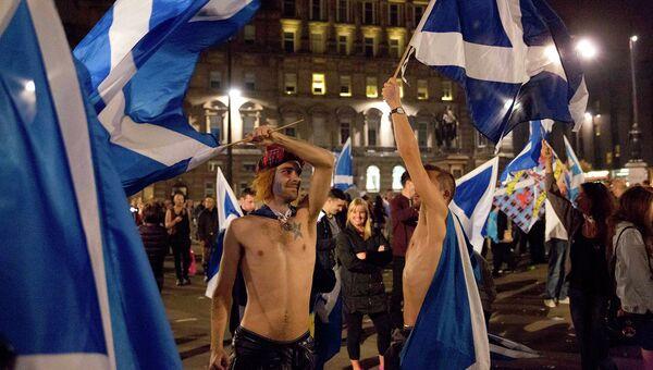 Сторонники независимости Шотландии в Глазго