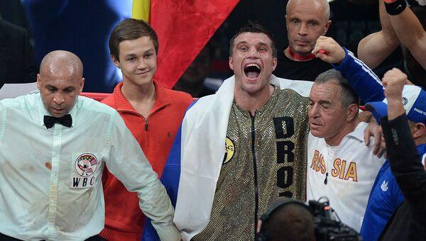 Российский боксер Григорий Дрозд стал победителем поединка за звание чемпиона мира по версии WBC