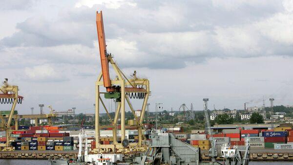Порт в Риге. Архивное фото