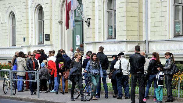 Голосование на парламентских выборах в Латвии. Архивное фото