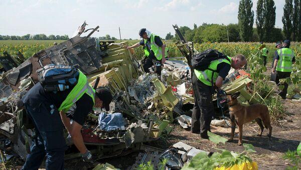 На месте крушения Boeing 777 компании Malaysia Airlines. Архивное фото