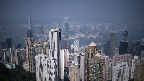 Вид на район Central в Гонконге
