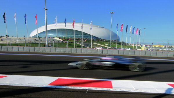 Болид на российском этапе чемпионата мира Формула-1. Архивное фото