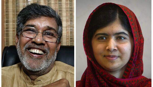 Малала Юсафзай и  Кайлашу Сатьярти