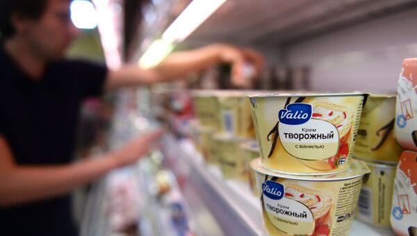 Продукция финского производителя молочных продуктов Valio. Архивное фото