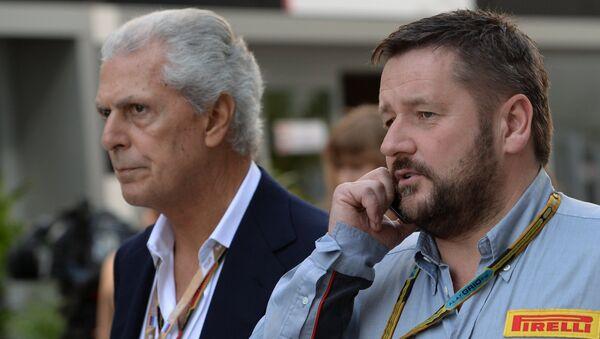 Марко Тронкетти (слева) и Пол Хембри на Гран-при России в Сочи