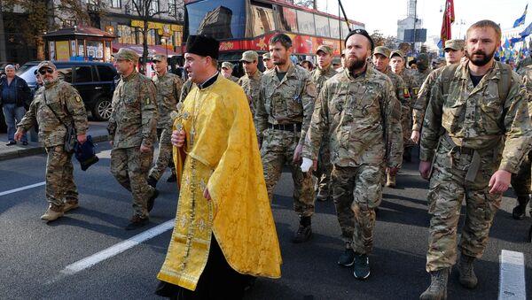 Марш в годовщину создания УПА в Киеве