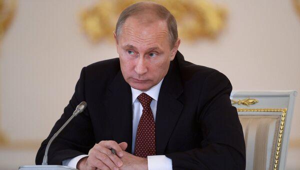 В.Путин на заседании Совета по развитию гражданского общества. Архивное фото