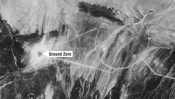 Съемка китайского полигона для ядерных испытаний с американского спутника