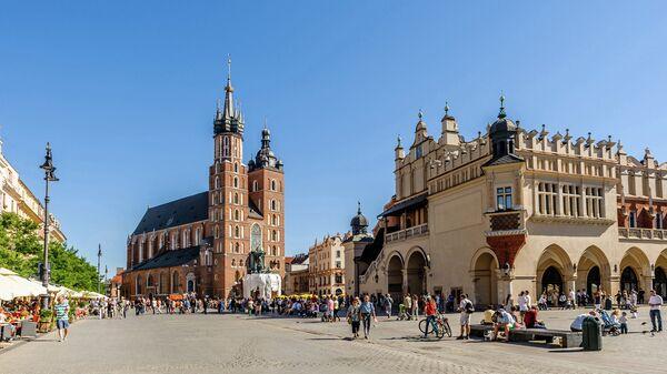 Вид на Краков, Польша